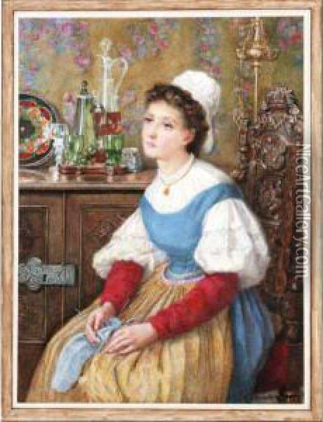 Daydreaming Oil Painting - Catherine Adelaide Sparkes