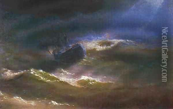 Maria in a Storm Oil Painting - Ivan Konstantinovich Aivazovsky
