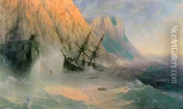 The Shipwreck I Oil Painting - Ivan Konstantinovich Aivazovsky