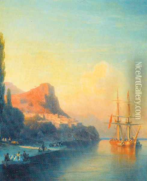 View of the golden Horn Oil Painting - Ivan Konstantinovich Aivazovsky