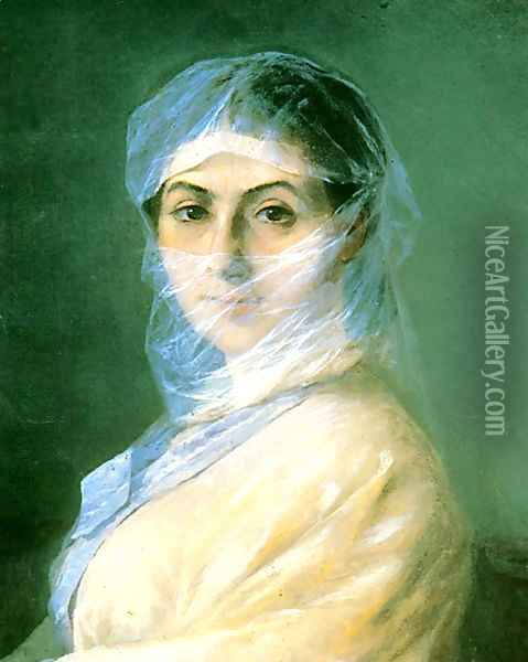 Portrait of the Artists wife Oil Painting - Ivan Konstantinovich Aivazovsky