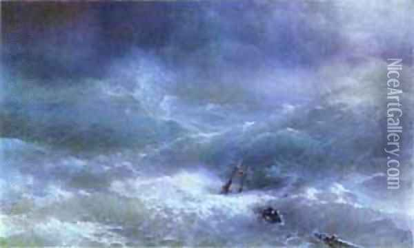The Billow Oil Painting - Ivan Konstantinovich Aivazovsky