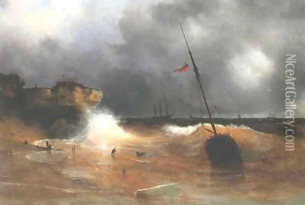 The gale on sea is over Oil Painting - Ivan Konstantinovich Aivazovsky