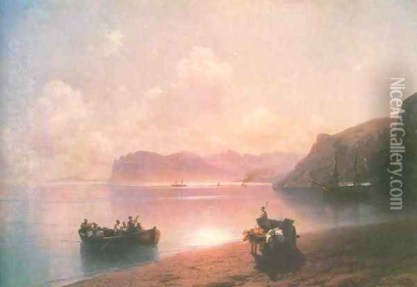 Morning on a sea Oil Painting - Ivan Konstantinovich Aivazovsky