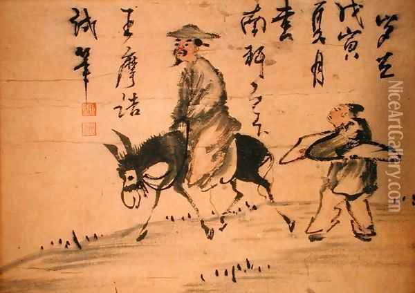 A Poet on a Mule, 1578 Oil Painting - Anonymous Artist