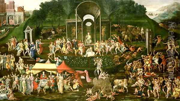 An Allegory of Temperance and Excess Oil Painting - Anonymous Artist