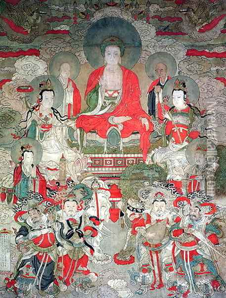 Buddhas, 1675 Oil Painting - Anonymous Artist