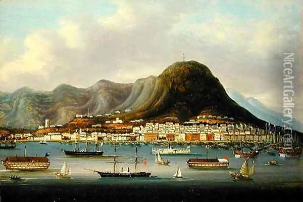 A View of Hong Kong Oil Painting - Anonymous Artist