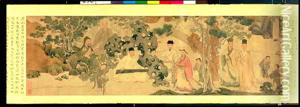 Literi Gathering in Qinglin Oil Painting - Anonymous Artist