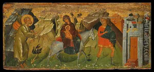 The Flight into Egypt Oil Painting - Anonymous Artist