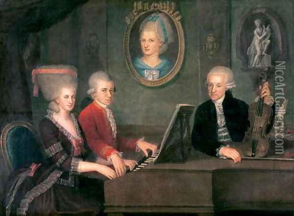 Portrait of Leopold Mozart (2) Oil Painting - Anonymous Artist