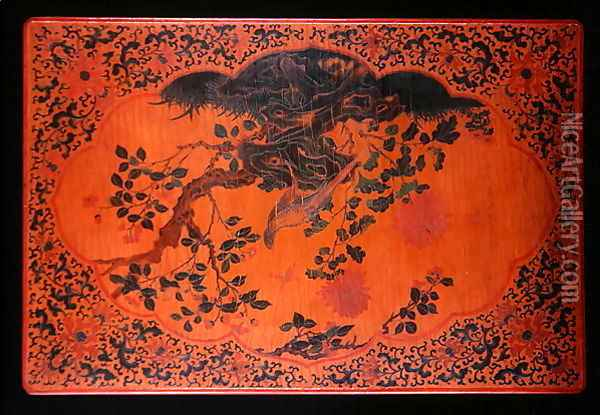 Table Top, Kangxi period (1662-1722) (2) Oil Painting - Anonymous Artist