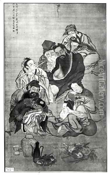 Pa Hsien, the Eight Immortals Oil Painting - Anonymous Artist
