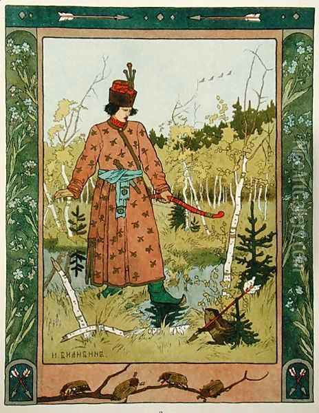 The Prince and the Frog, published 1899-1900 Oil Painting - Anonymous Artist
