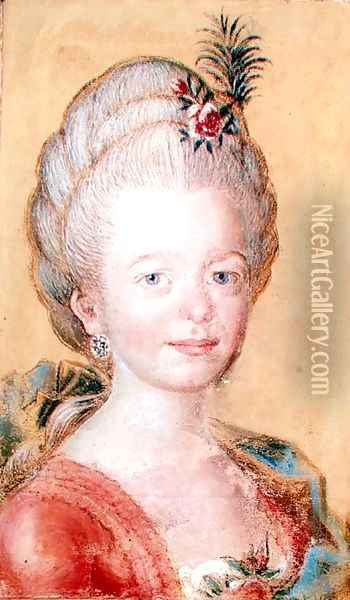 Portrait of the daughter of Carl Linnaeus 1707-78 Oil Painting - Anonymous Artist