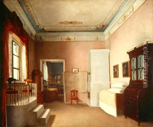 Grand Interior Oil Painting - Anonymous Artist