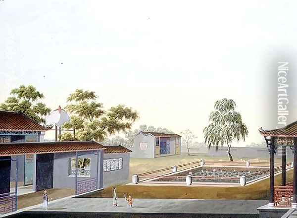 Walled Garden, c.1820-40 Oil Painting - Anonymous Artist