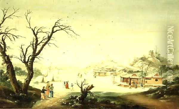 Winter Oil Painting - Anonymous Artist