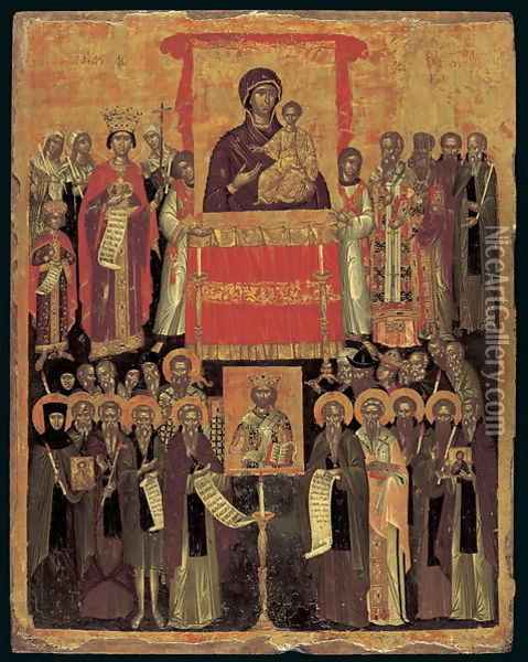 The Restoration of the Icons Oil Painting - Anonymous Artist