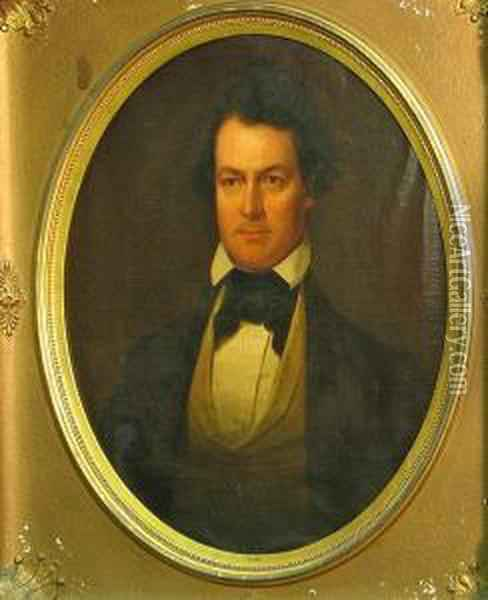 A Portrait Of Edwin Forrest Oil Painting - Junius Brutus Stearns