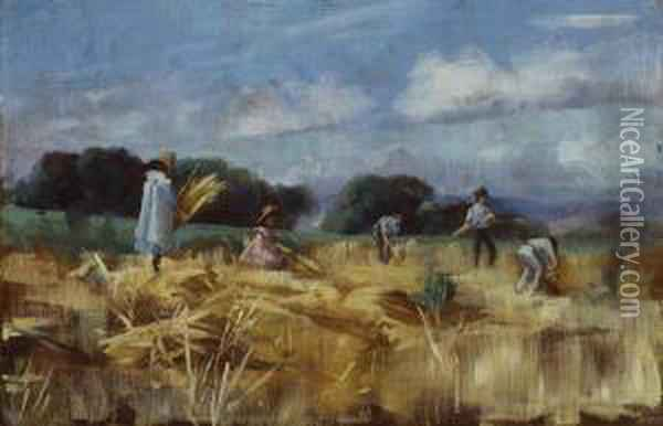 Little Harvesters Oil Painting - Ethel Anna Stephens