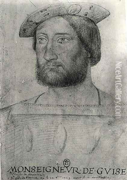 Portrait of Claude of Lorraine (1496-1550) 1st Duke of Guise Oil Painting - Anonymous Artist