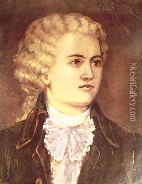 Wolfgang Amadeus Mozart Oil Painting - Anonymous Artist