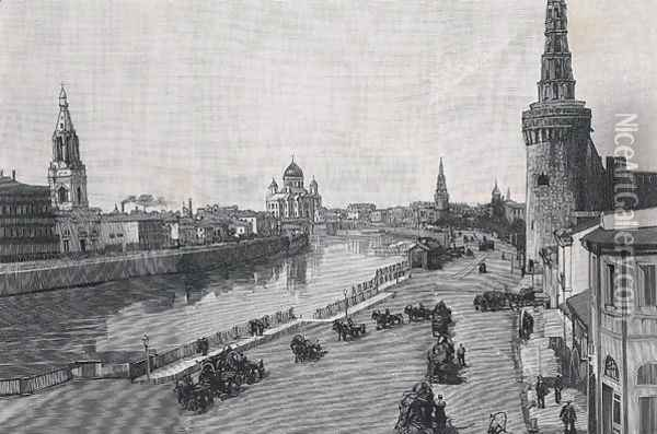 The Kremlin, Moscow, 1894 Oil Painting - Anonymous Artist