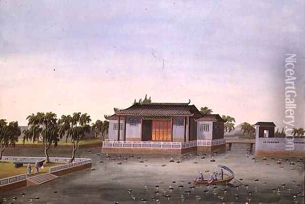 Water Garden, c.1820-40 Oil Painting - Anonymous Artist