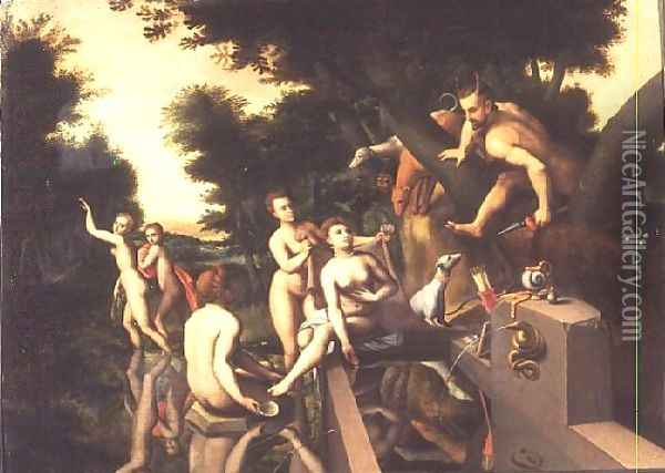 Diana and Actaeon Oil Painting - Anonymous Artist