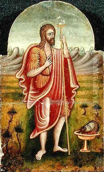 St. John the Baptist Contemplating Martyrdom Oil Painting - Anonymous Artist