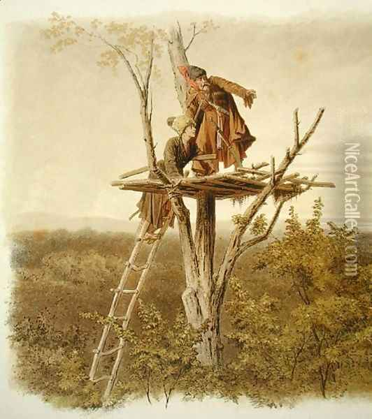 The Lookout Oil Painting - Anonymous Artist