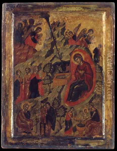 The Nativity Oil Painting - Anonymous Artist