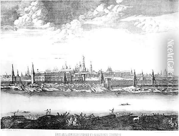 Moscow, plate 19 from Views of Palaces, Churches and Buildings, 1886 Oil Painting - Anonymous Artist