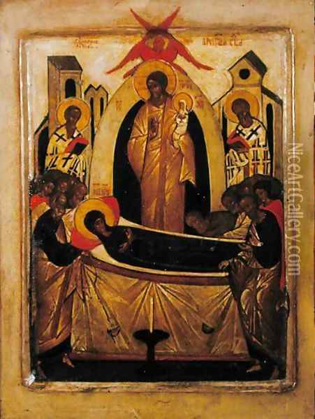 The Dormition of the Virgin 2 Oil Painting - Anonymous Artist