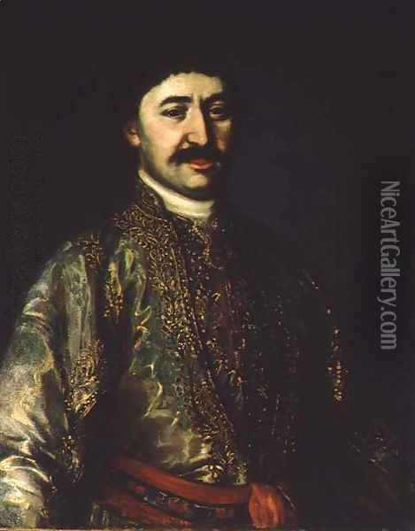 Portrait of Prince Garsevan Chavchavadze Oil Painting - Anonymous Artist