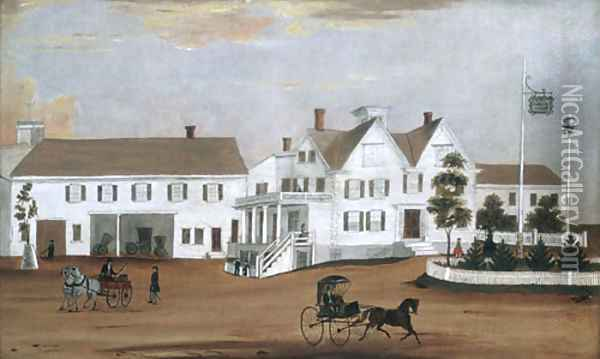 Hudson House 1882 Oil Painting - Anonymous Artist