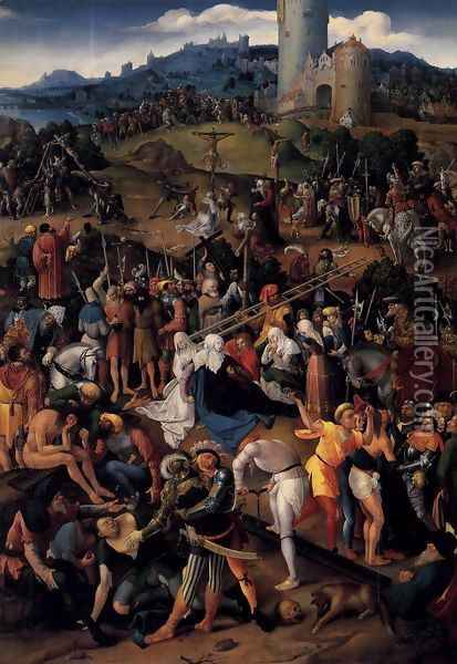 Mount Calvary 1520 Oil Painting - Anonymous Artist