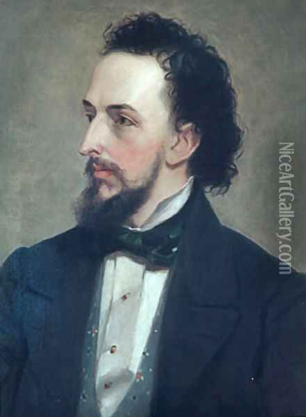Portrait of a Man 1850 Oil Painting - Anonymous Artist