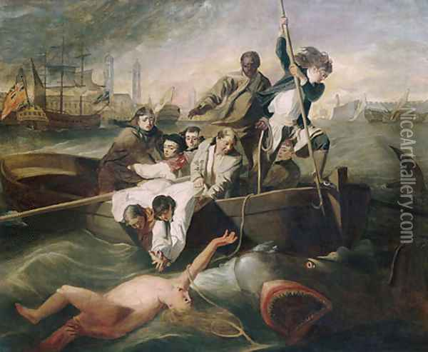 Watson and the Shark 1778 Oil Painting - Anonymous Artist