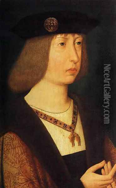 Portrait of Philip the Handsome 1500 Oil Painting - Anonymous Artist