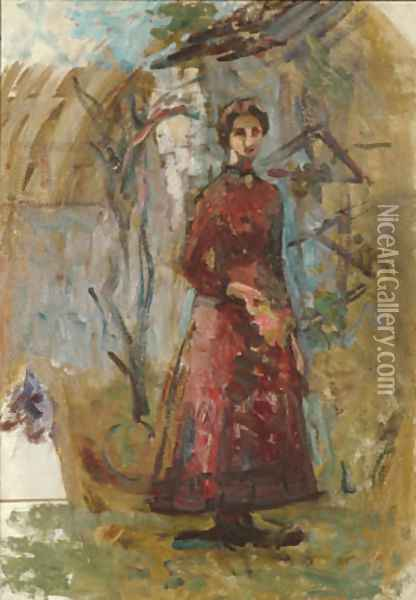 Annie Sargent Jewett 1905 2 Oil Painting - Anonymous Artist
