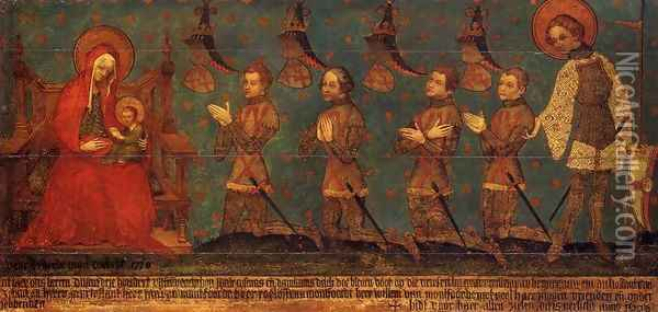 Memorial Tablet 1380 Oil Painting - Anonymous Artist