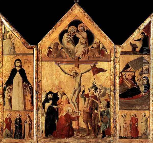 Triptych 1333 Oil Painting - Anonymous Artist