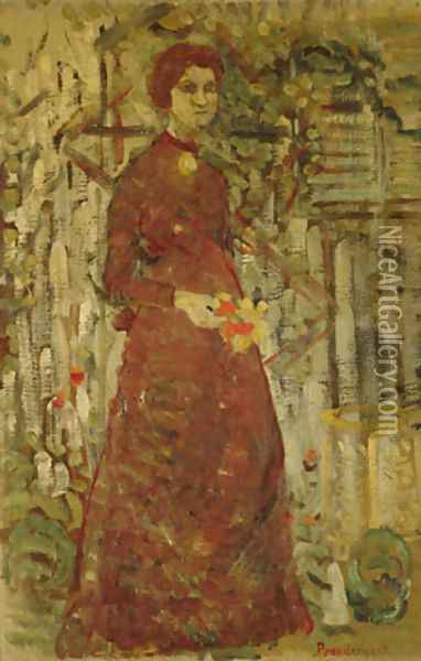 Annie Sargent Jewett 1905 Oil Painting - Anonymous Artist