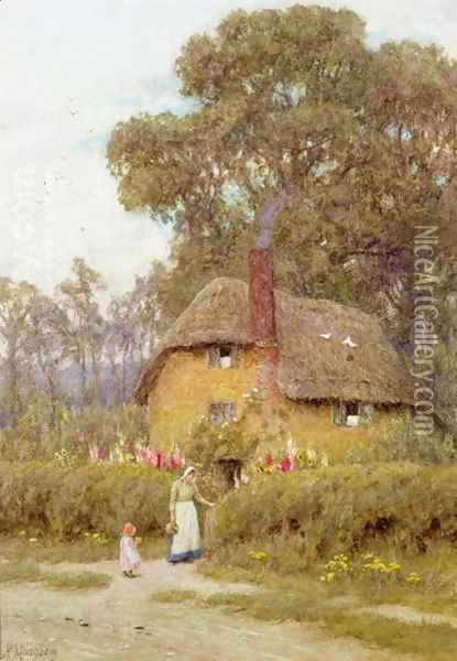 A Wiltshire Garden Oil Painting - Helen Mary Elizabeth Allingham