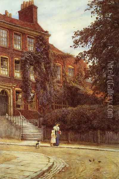 Stanfield House, Hampstead Oil Painting - Helen Mary Elizabeth Allingham