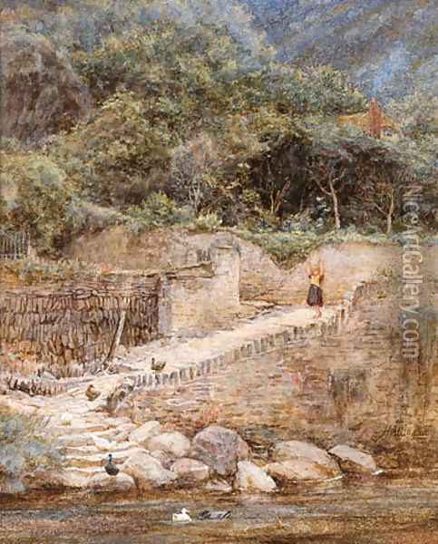 At Lynmouth, North Devon Oil Painting - Helen Mary Elizabeth Allingham