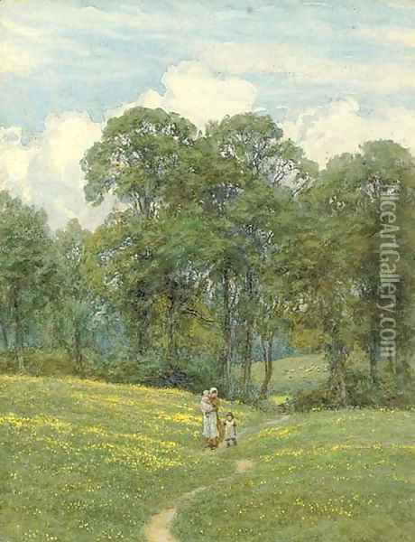 Returning home on a summer's day Oil Painting - Helen Mary Elizabeth Allingham