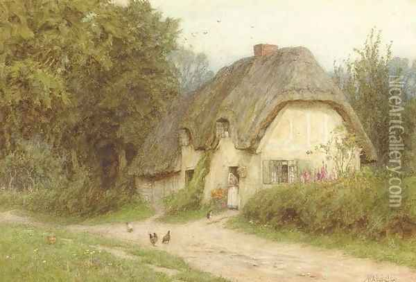 At West Hagbourne, Berks Oil Painting - Helen Mary Elizabeth Allingham